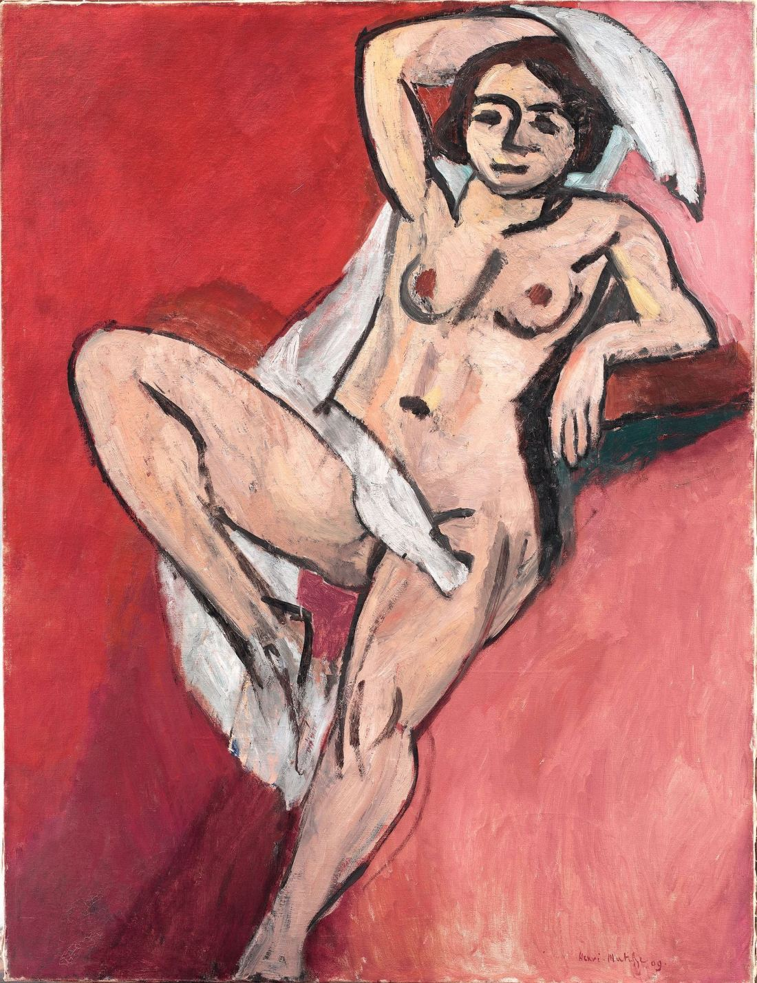 Henri Matisse, Nude with a White Scarf, 1909.