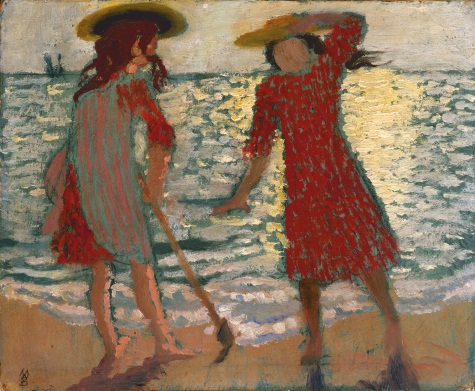 Maurice Denis, On the Beach (Two Girls against the Light), 1892.