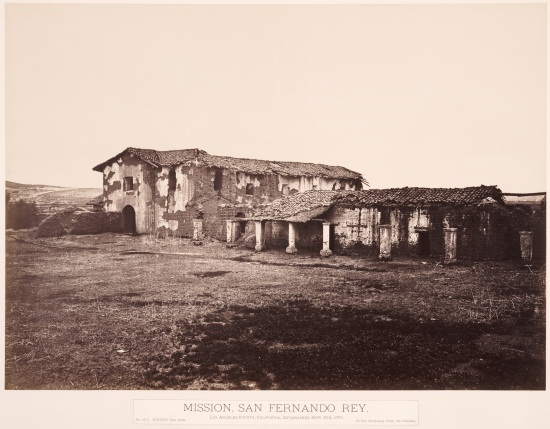 Carleton Watkins, Mission San Fernando Rey, ca. 1877. Collection of Huntington Library, Art Collections, and Botanical Gardens, San Marino, Calif.