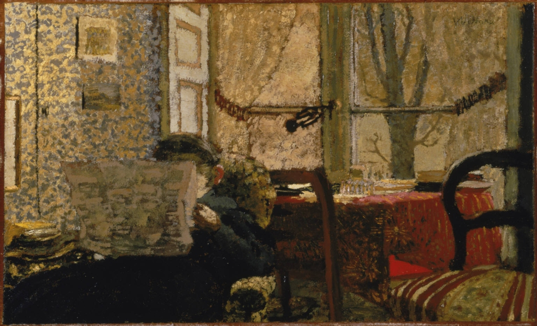 Edouard Vuillard, The Newspaper, c. 1896−98.