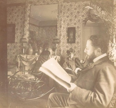 Edouard Vuillard, Thadée and Misia Natanson in the salon, rue St. Florentin, 1898