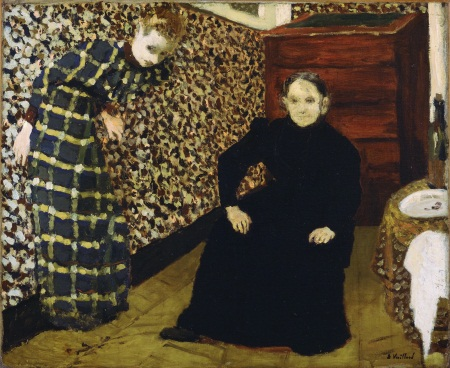 Edouard Vuillard, Interior, Mother and Sister of the Artist, 1893.
