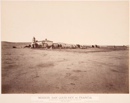 Carleton Watkins, Mission San Luis Rey de Francia, ca. 1877. Collection of Huntington Library, Art Collections, and Botanical Gardens, San Marino, Calif.