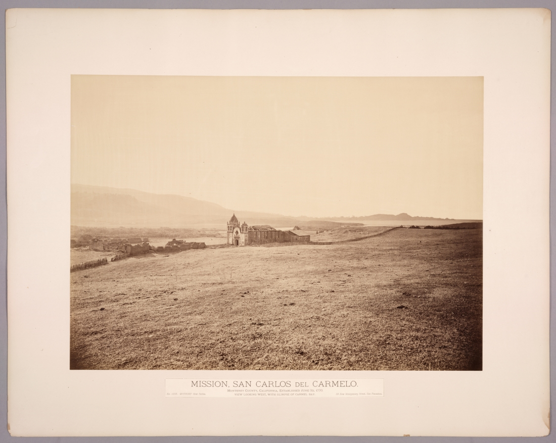 Carleton Watkins, Mission San Carlos del Carmelo, ca. 1877. Collection of Huntington Library, Art Collections, and Botanical Gardens, San Marino, Calif.