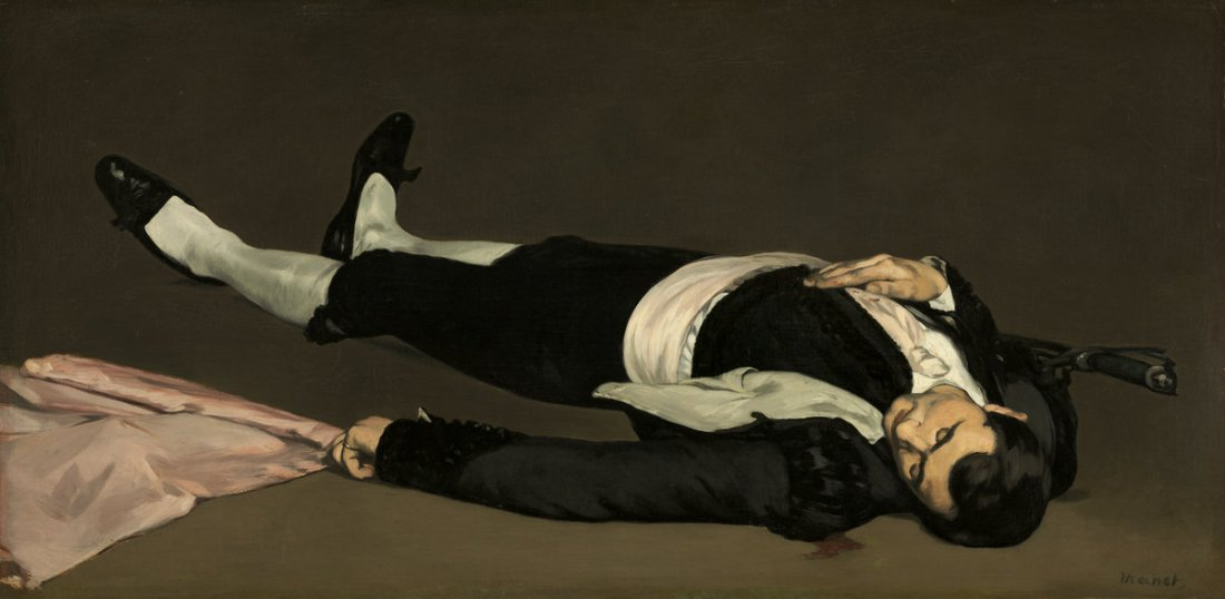 Edouard Manet, The Dead Toreador, c. 1864. Collection of the National Gallery of Art, Washington.