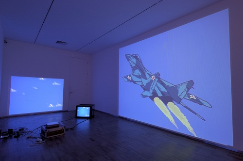 Cory Arcangel, MIG 29 Soviet Fighter Plane and Clouds, 2005. Collection of the Albright-Knox Art Gallery, Buffalo.