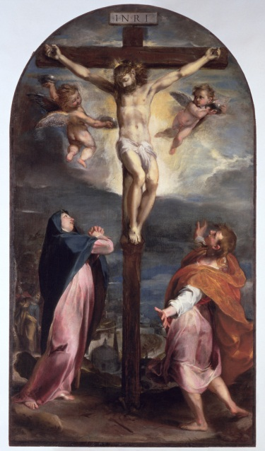 Barocci, Crucifixion with the Virgin Mary and Saint John the Evangelist, 1566–67.
