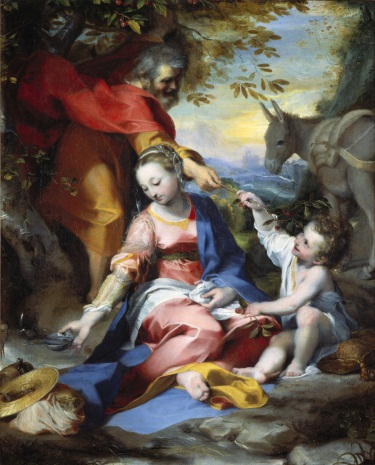 Barocci, Rest on the Return from Egypt, 1570-73, Collection of the Vatican Museums, Vatican City.
