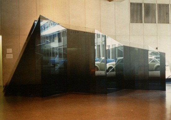 Larry Bell, The Iceberg and Its Shadow, ca. 1977. Collection of the Massachusetts Institute of Technology.