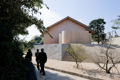 Exterior of F-Art House by Kazuyo Sejima, part of Art House Project Inujima at Benesse Art Site Naoshima.