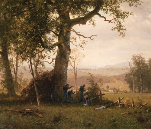 Albert Bierstadt. Guerrilla Warfare, Civil War, 1862. Collection of The Century Association, New York.