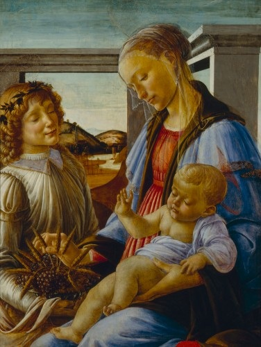 Sandro Botticelli, Virgin and Child with Angel, ca. 1470s. Collection of the Isabella Stewart Gardner Museum, Boston.