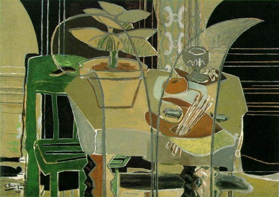 Georges Braque, Large Interior with Palette, 1942. The Menil Collection, Houston.