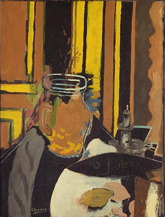 Georges Braque, Pitcher, Candlestick, and Black Fish, 1943. The Menil Collection, Houston.