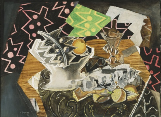 Georges Braque, Still Life with a Fruit Dish, 1936. Collection of the Philadelphia Museum of Art.