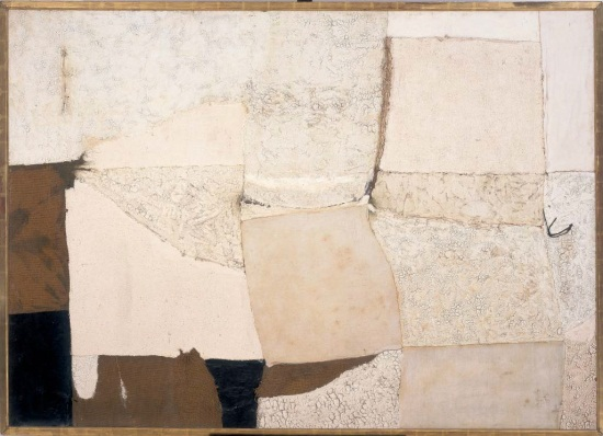 Alberto Burri, Bianco (White), 1955. Collection of the Albright-Knox Art Gallery, Buffalo, New York.
