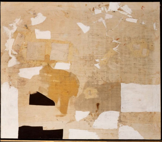 Alberto Burri, Bianco (White), 1962. Collection of the San Francisco Museum of Modern Art.