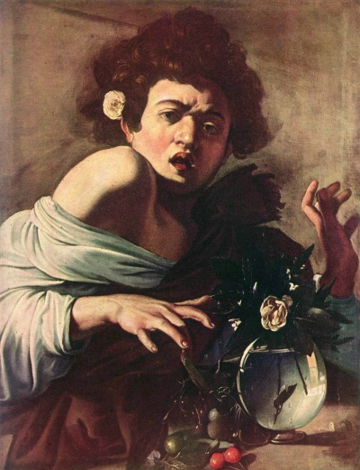 Caravaggio, Boy Bitten by a Lizard, 1594-96. Collection of the Roberto Longhi Foundation, Florence.