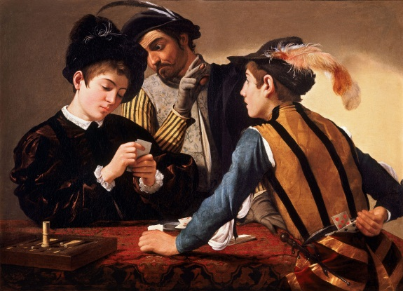 Caravaggio, Cardsharps, 1595. Collection of the Kimbell Art Museum, Fort Worth, Texas.