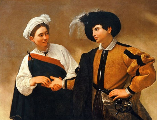 Caravaggio, The Fortune Teller, ca. 1594. Collection of the Capitoline, Rome.