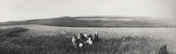 Members of the Hickman family on the South Dakota prairie, ca. 1900. Photograph by Robert Adams's grandfather, Charles Hickman.
