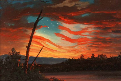 Frederic Edwin Church, Our Banner in the Sky, 1861.