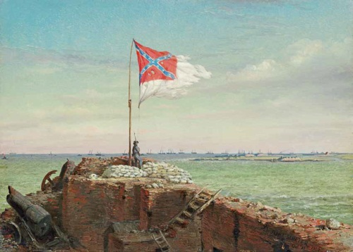 Conrad Wise Chapman, The Flag of Sumter, Oct 20 1863, 1863–64. Collection of The Museum of the Confederacy, Richmond, Virginia.