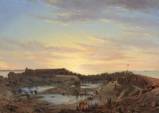 Conrad Wise Chapman, Fort Sumter Interior, Sunrise, Dec. 9, 1863, 1863–64. Collection of the The Museum of the Confederacy, Richmond, Virginia.