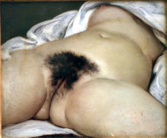 Gustave Courbet, Origin of the World, 1866. Collection of the Musee d'Orsay, Paris.
