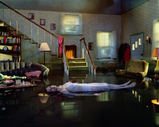 "Gregory Crewdson, Untitled (Ophelia) from the ""Twilight"" series, 2001-02."