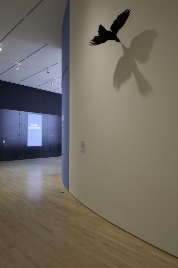 Mark Bradford, Crow, 2003/09. As installed at SFMOMA.