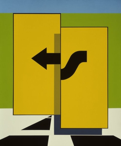 Allan D'Arcangelo, Proposition #9, 1966. Collection Walker Art Center, Minneapolis.