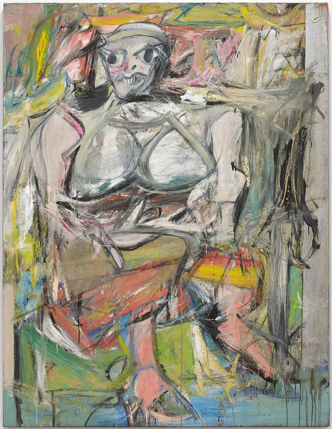 Willem de Kooning, Woman I, 1950-52. Collection of the Museum of Modern Art, New York.
