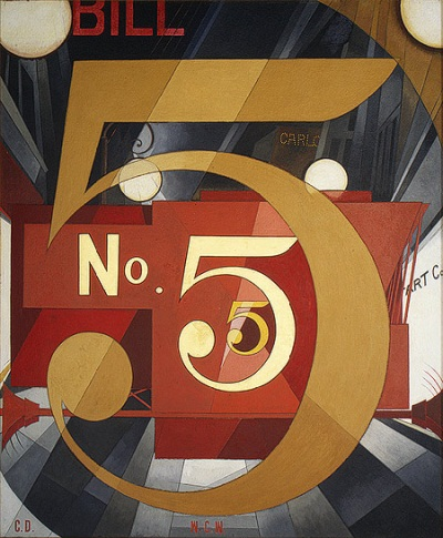 Charles Demuth, I Saw the Figure 5 in Gold, 1928. Collection of the Metropolitan Museum of Art, New York.