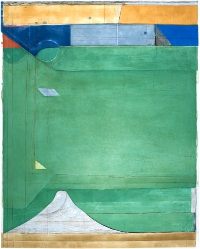 Richard Diebenkorn, Green, 1986. Collection of the Fine Arts Museums of San Francisco.