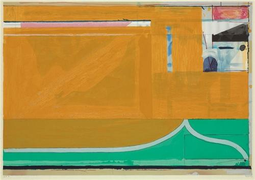 Richard Diebenkorn, Ochre, 1986. Collection of the Fine Arts Museums of San Francisco.
