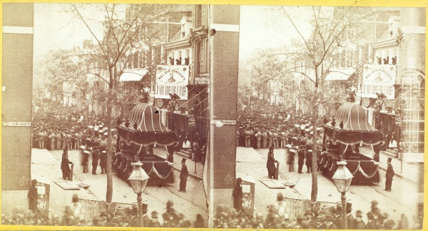 Ridgway Glover, Dispersing the Crowd at Sixth and Chestnut, Philadelphia, 1865. Collection of The Huntington Library, Art Collection and Botanical Gardens.