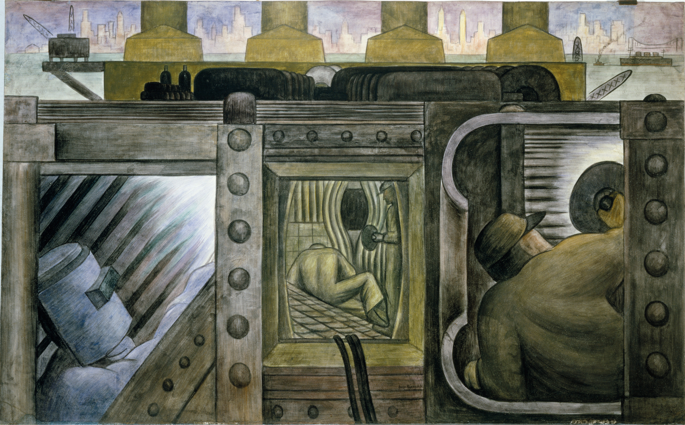 No 5 diego rivera s murals lisa freiman the modern for Diego rivera mural new york