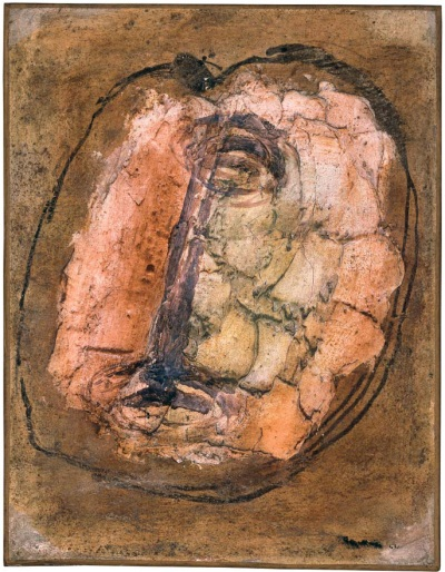 Jean Fautrier, Head of a Hostage, No. 1, 1944. Collection of the Museum of Contemporary Art, Los Angeles.