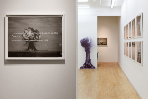"Yevgeniy Fiks, ""Homosexuality is Stalin's Atom Bomb to Destroy the United States,"" installation view."