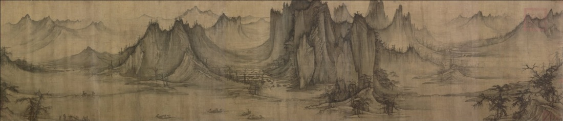 Xu Daoning, Fishermen on a Mountain Stream, ca. 1049. Collection of the Nelson-Atkins Museum of Art.