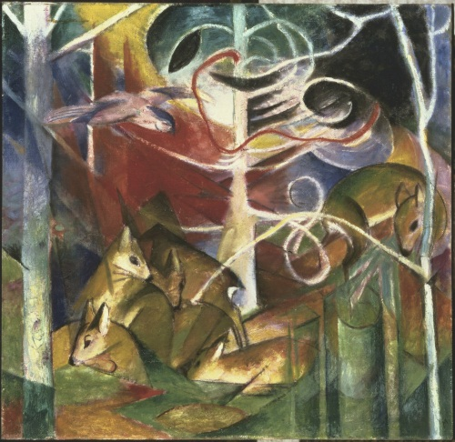 Franz Marc, Deer in the Forest I, 1913. Collection of The Phillips Collection, Washington, DC.