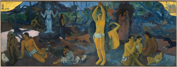 Paul Gauguin, Where Do We Come From? What Are We? Where Are We Going?, 1897-98. Collection of the Museum of Fine Arts, Boston.