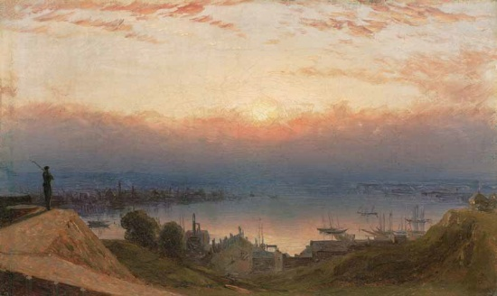 Sanford R. Gifford, Basin of the Patapsco from Federal Hill, Baltimore, 1862, 1862.