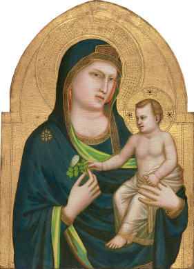 Giotto, Madonna and Child, 1320-1330. Collection of the National Gallery of Art, Washington.