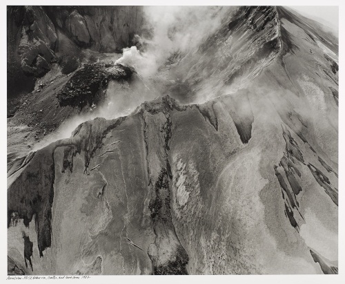 Frank Gohlke, Aerial View, Mt. St. Helens, Rim, Crater and Lava Dome, 1982.