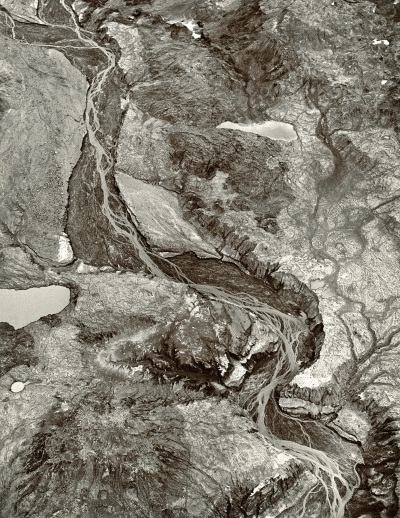 Emmet Gowin, Braided Streams of the Toutle River West of Mount Saint Helens, 1981.
