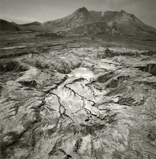 Emmet Gowin, Debris Flow at the Northern Base of Mount Saint Helens, Looking South, 1983.