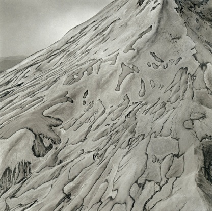 Emmet Gowin, Mount Saint Helens, 1982.