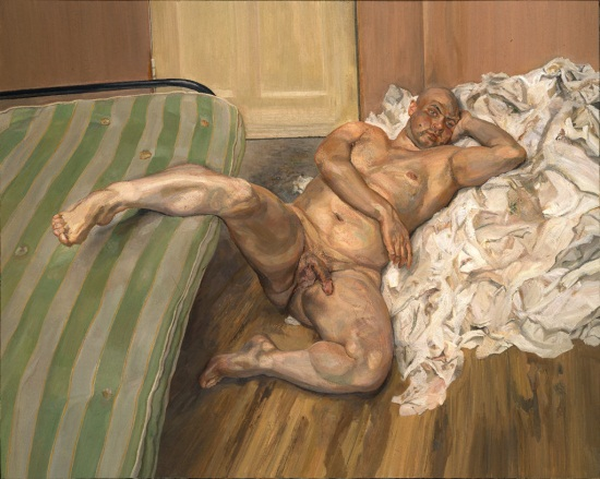 Lucian Freud, Nude with Leg Up, 1992. Collection of the Hirshhorn Museum and Sculpture Garden, Washington.